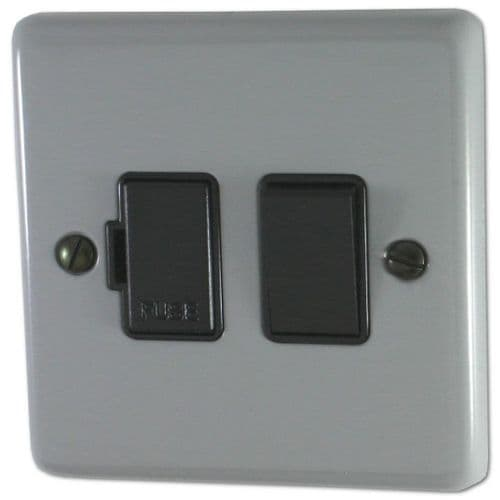 G&H CLG57B Standard Plate Light Grey 1 Gang Fused Spur 13A Switched